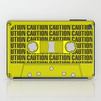 tape iPad Cases featuring Caution Tape by Resistance