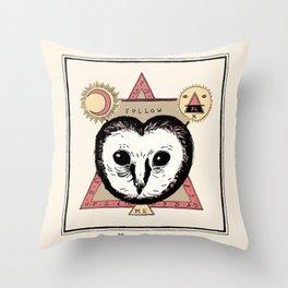 Follow the Owl Throw Pillow