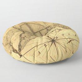 Map Of Pensacola 1778 Floor Pillow