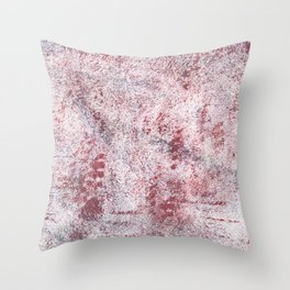 Queen pink abstract watercolor Throw Pillow