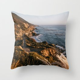 The Road to Big Sur Throw Pillow