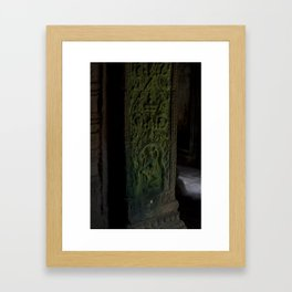 Bayon Temple Interior, Angkor Wat Framed Art Print