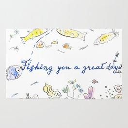 Fishing you a great day! Rug