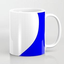 Heart (White & Blue) Coffee Mug