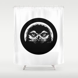 meh.ro logo Shower Curtain