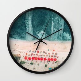 Beach sky view Wall Clock