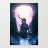 tomb raider Canvas Prints featuring Tomb Raider: Definitive Edition by Caleb Thomas