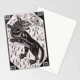 Wolf and Hand Stationery Cards