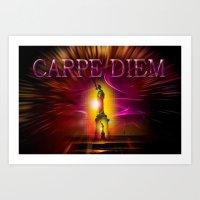 carpe diem Art Prints featuring Carpe Diem by Walter Zettl