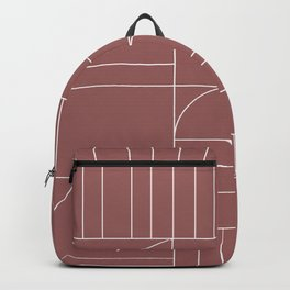 Deco Geometric 04 Dark Pink Backpack