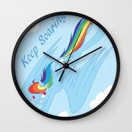 Keep Soaring Wall Clock