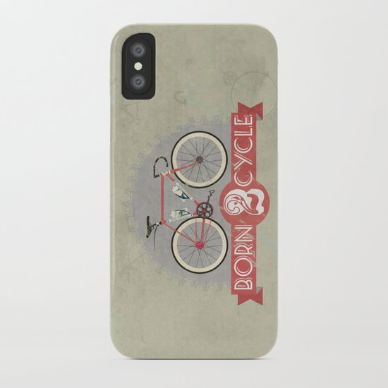 Born To Cycle iPhone Case