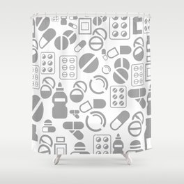 Tablet a background Shower Curtain