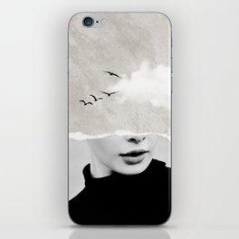 minimal collage /silence iPhone Skin
