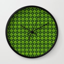 weed pattern Wall Clock