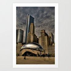 Buildings Rising From Behind Art Print