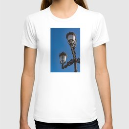 Old iron lamp with three heads T-shirt
