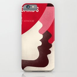 The Handmaid's tale, book cover illustration, Margaret Atwood book, Elisabeth Moss iPhone Case