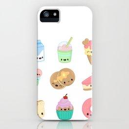 Food Kawaii Stickers iPhone Case