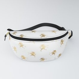 Gold Unicorn Pattern Fanny Pack