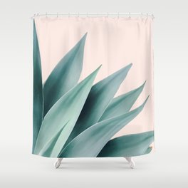 Agave flare II - peach Shower Curtain