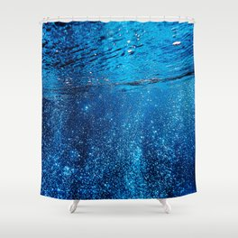 Below The Waves Shower Curtain
