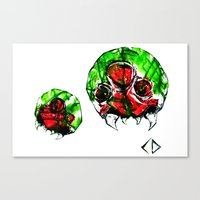 metroid Canvas Prints featuring Metroid by CJ Draden