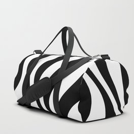 Op Art Waves B&W Duffle Bag