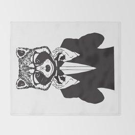Fancy Raccoon Throw Blanket