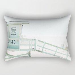 Lifeguard Tower California Beach Life Rectangular Pillow