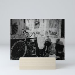 Vintage Messenger Boy On Bike - Texas - 1913 Mini Art Print