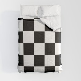 Traditional Black And White Chequered Start Flag Comforters