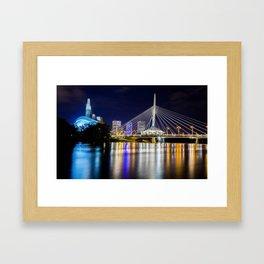 Winnipeg Skyline Framed Art Print