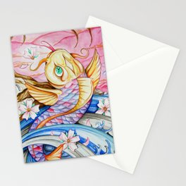 Watercolor Koi Fish Stationery Cards