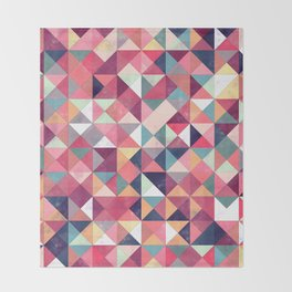 Lovely Geometric Background Throw Blanket