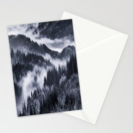 Misty Forest Mountains Stationery Cards