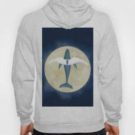 Flying whale Hoody