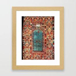 Kurdish East Anatolian Niche Rug Print Framed Art Print