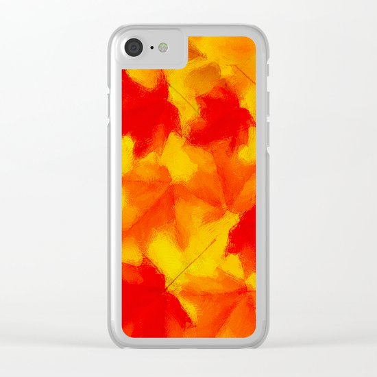 Autumn leaf abstract Clear iPhone Case