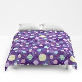 Need Some Space! Kawaii Galaxy Doodle Comforters