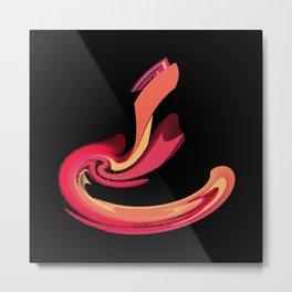 Strike of the Cobra Abstract Metal Print