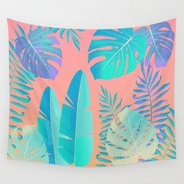 Tropics ( monstera and banana leaf pattern ) Wall Tapestry