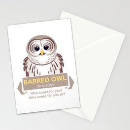 Cry of the Barred Owl Stationery Cards