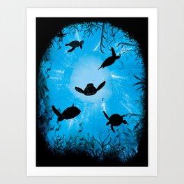 Turtle World Art Print
