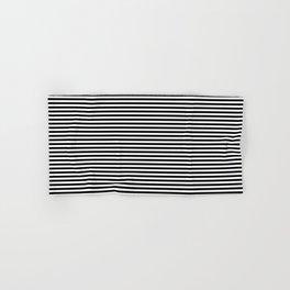 Horizontal Stripes in Black and White Hand & Bath Towel