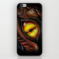 smaug iPhone & iPod Skins featuring Smaug eye by Artwork by Alex