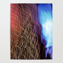 Abstract Lit Xmas Tree2 Poster