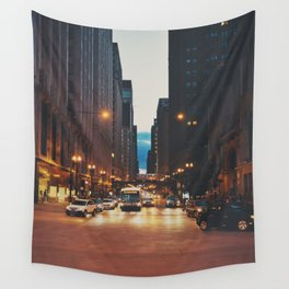 the streets of Chicago ... Wall Tapestry