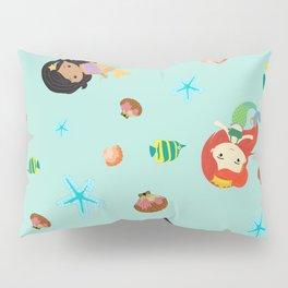 Cute Mermaid- Seafoam Blue Pillow Sham