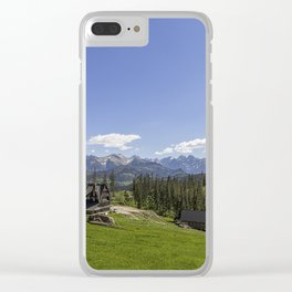 Snow Topped. Clear iPhone Case